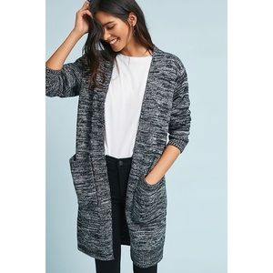 Anthro Sunday In Brooklyn Women's Gray Open Front Classic Space-Dyed Cardigan